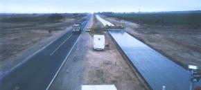 Autopista sobre Ruta Nacional Nº7. Provincia de San Luis